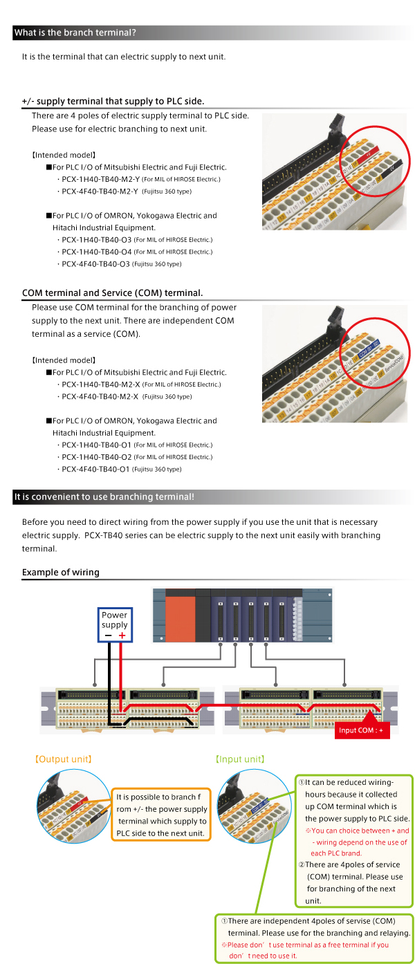 It Is Convenient To Use Pcx Series With Branch Terminal 110 Wiring Block Uk